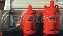 gasflaschenhalter gasflaschenhalterung kanisterhalterung. Black Bedroom Furniture Sets. Home Design Ideas